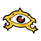 Spooky mystic eye cartoon Royalty Free Stock Photo