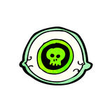 Spooky mystic eye cartoon Royalty Free Stock Images