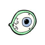 Spooky mystic eye cartoon Royalty Free Stock Photography