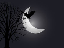 Spooky night Halloween. A spooky night themed background for Halloween Royalty Free Stock Photo