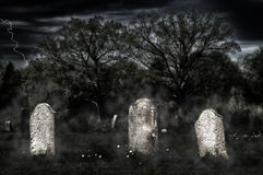Spooky old cemetery Stock Image