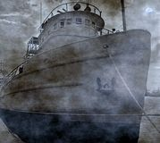 Spooky Old Fishing Boat Royalty Free Stock Photos