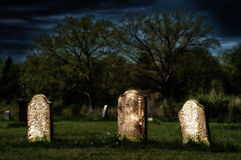Spooky old graves Royalty Free Stock Image
