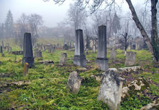 Spooky old graveyard Stock Image