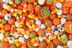 Spooky Orange Halloween Candy. Against a background stock photography