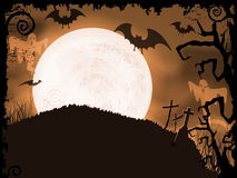 Spooky orange Halloween night Royalty Free Stock Photography