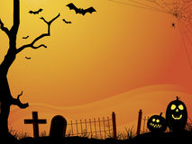Spooky orange halloween sunset Stock Image
