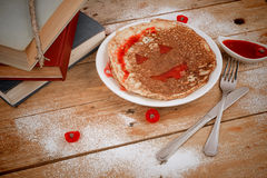 Spooky pancake Royalty Free Stock Photo