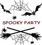 Spooky party. Illustration, element illustration Stock Photo