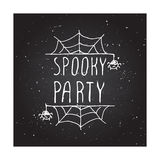 Spooky party - typographic element Stock Images