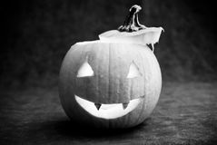 Spooky Pumpkin Royalty Free Stock Photography