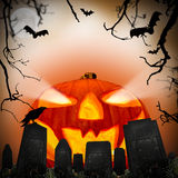 Spooky pumpkin Royalty Free Stock Images
