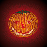 Spooky Pumpkin Stock Photo