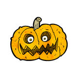 Spooky pumpkin cartoon Royalty Free Stock Photography