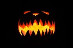 Spooky pumpkin in dark Royalty Free Stock Images