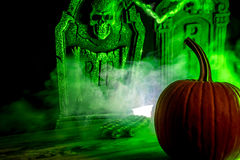 Spooky Pumpkin stock photo