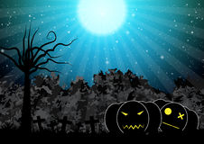 Spooky pumpkin halloween background vector illustration Royalty Free Stock Photo