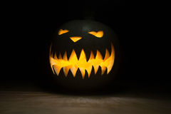 Spooky pumpkin on halloween Royalty Free Stock Photography