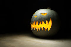 Spooky pumpkin on halloween Stock Photography