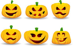 Spooky pumpkins Royalty Free Stock Photo