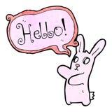 Spooky rabbit halloween cartoon saying hello Stock Photos