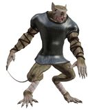 Spooky rat 1. 3D render of a monster rat in an armor Stock Photography