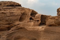 Spooky rock face , Strange stone shape royalty free stock photography