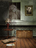 Spooky room at night Stock Images