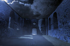 Spooky Ruins. Old ruins on a spooky night Royalty Free Stock Photography