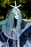Sea Witch Scarecrow for Halloween. Spooky sea witch scarecrow for Halloween Royalty Free Stock Photo