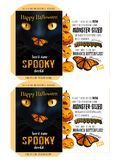 Spooky Seeds for Halloween - Black Cat. Happy Halloween Royalty Free Stock Photos