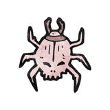 spooky skull beetle cartoon Royalty Free Stock Image