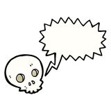 Spooky skull cartoon Royalty Free Stock Photos