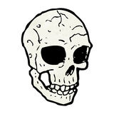 Spooky skull cartoon Stock Image