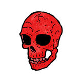 Spooky skull cartoon Royalty Free Stock Image