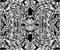 Spooky Skull Face Between Vortex Vector Royalty Free Stock Photography