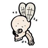 Spooky skull fly cartoon Royalty Free Stock Photography