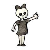 spooky skull head girl Stock Photo
