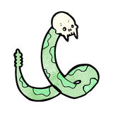 Spooky snake cartoon Royalty Free Stock Photos