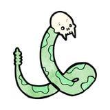 Spooky snake cartoon Royalty Free Stock Photos