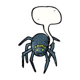 Spooky spider cartoon Royalty Free Stock Image