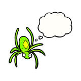 Spooky spider cartoon Stock Image