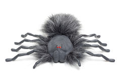 Spooky Spider II. Halloween spider with glowing red eyes isolated on a white background Royalty Free Stock Photos