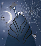 Spooky spider illustration Stock Images
