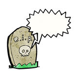 Spooky talking grave Stock Images