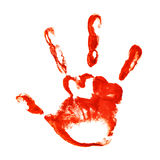 Spooky three-fingered hand print Royalty Free Stock Photography