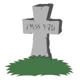 Spooky tombstone Stock Image