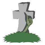 Spooky tombstone Stock Images