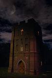 Spooky Tower at Night Stock Photo