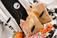 Spooky treat bags Stock Images